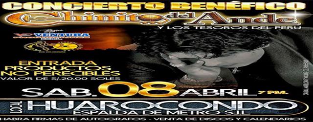 CHINITO DEL ANDE EN CONCIERTO BENEFICO EN EL HUAROCONDO