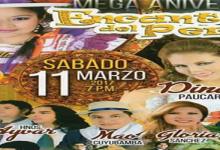 MEGA ANIVERSARIO DE ENCANTOS DEL PERU en el complejo Santa Rosa, este sábado 11 de marzo