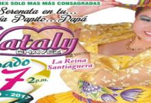 la reina del santiago Nataly Chavez de aniversario