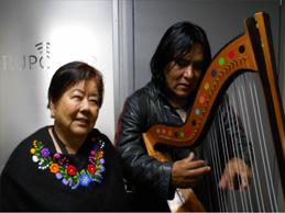 Princesita de Yungay cantará con arpa de Luciano Quispe