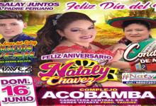 feliz aniversario NATALY CHAVEZ en ACOBAMBA dom 16 junio
