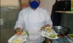 rico ceviche en El Alto, Bolivia