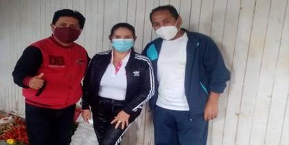 MAXY LA DULZURA DE CARAZ llevó viveres a familias vulnerables