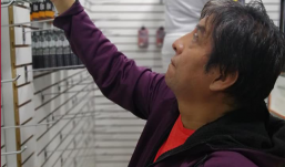 cholo cirilo inaugura tienda en Las Malvinas