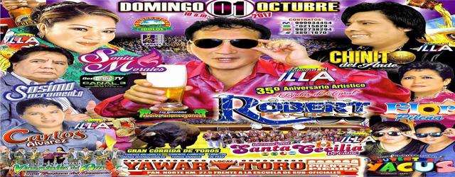 ROBERT PACHECO CON SONIA MORALES Y CHINITO DEL ANDE en YAWAR TORO