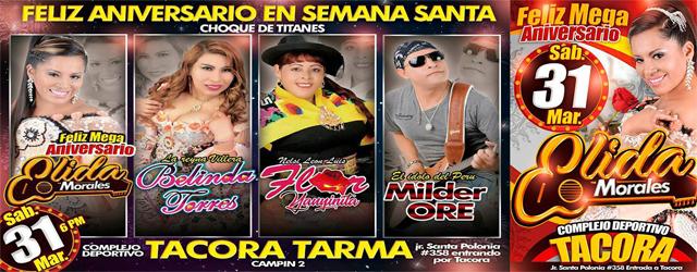 FELIZ ANIVERSARIO ELIDA MORALES, EN TARMA, SABADO 31 DE MARZO