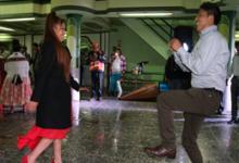UN RECUERDO DE ROLDAN LEONEL CON VIOLETA CHURA, bailando huaylarsh