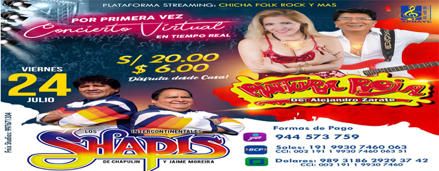 SHOW VIRTUAL PINTURA ROJA Y LOS SHAPIS